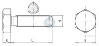 Hexagonal head thread-forming bolt