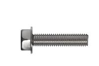 Hexagonal washer serrated head thread-forming bolt