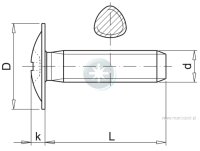 Button head thread-forming metal screw
