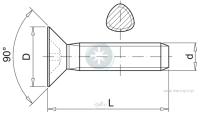 Flat head self-forming metal screw