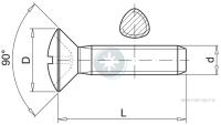 Oval head self-forming metal screw
