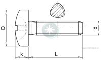 Pan head self-forming metal screw