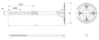 Łącznik do mocowania termoizolacji z trzpieniem metalowym Isotherm FIX