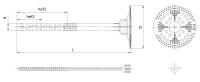 Łącznik do mocowania termoizolacji z trzpieniem tworzywowym Isotherm Fix