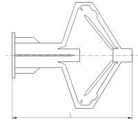 Plastic cavity anchor