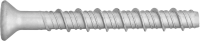 Countersunk concrete screw - zinc-coated