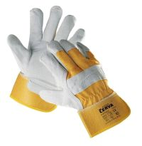 Gloves reinforced with leather