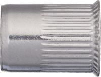 INOX Inox grooved rivet nut with reduced countersunk head