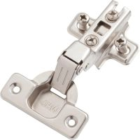 Concealed hinge half overlay type with mounting plate