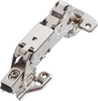 Clip-on soft closing hinge 165 full overlay type with mounting plate and euro screws